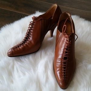 B2G1 RARE Yves Saint Laurent Brown Leather Booties